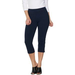 Women with Control Capri Pants Small Black QVC